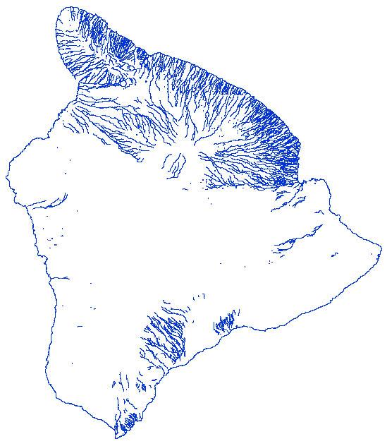 Big Island Vector data