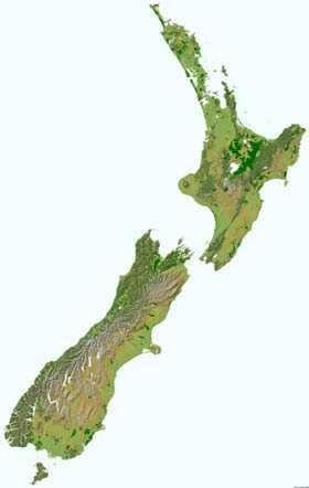 Topographic Map Of New Zealand.Vtp Location New Zealand