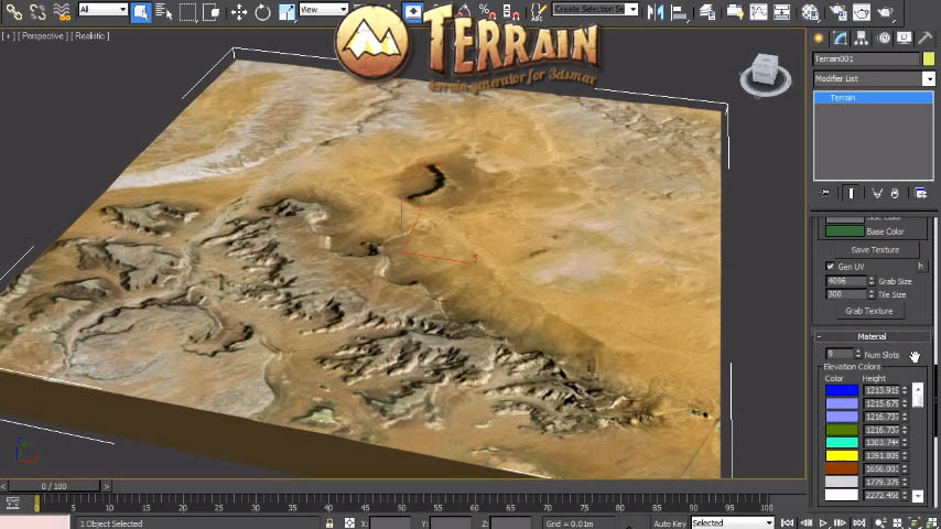 Terrain in conventional 3d modeling software Easy 3d modeling software